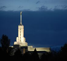 Mount Timpanogos Temple - Blue Twilight by Ryan Houston