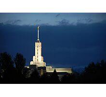 Mount Timpanogos Temple - Blue Twilight Photographic Print