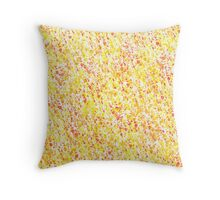 Yellow  and Red Inky Splashes Pattern Throw Pillow