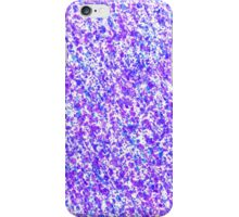 Blue and Purple Inky Splashes Abstract iPhone Case/Skin