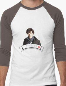 I am Sherlocked Men's Baseball ¾ T-Shirt