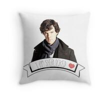 I am Sherlocked Throw Pillow