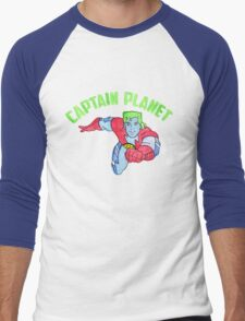 Captain Planet  Men's Baseball ¾ T-Shirt