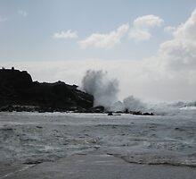 Lanzarote waves by Laura Hopkin