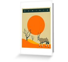 Namibia Travel Poster Greeting Card