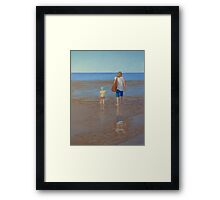 """My Girls Summer 2011"" Pastel Painting Framed Print"