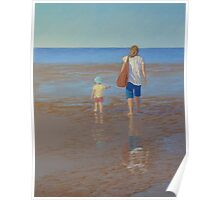 """My Girls Summer 2011"" Pastel Painting Poster"