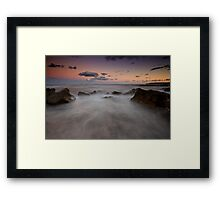 Merewether at Dusk 6 Framed Print