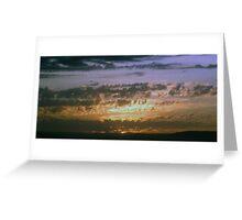 Masai Mara-Africa-Tramonto Greeting Card