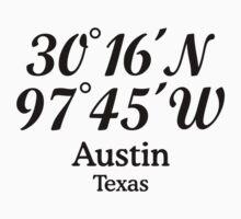 Austin, Texas Coordinates T-Shirt