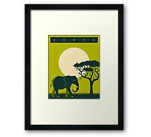 Kenya Travel Poster Framed Print
