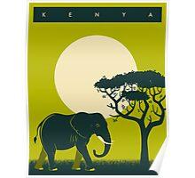 Kenya Travel Poster Poster