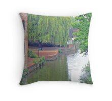 The River Foss From Foss Bridge Throw Pillow