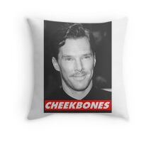 Benedict Cumberbatch Cheekbones Throw Pillow