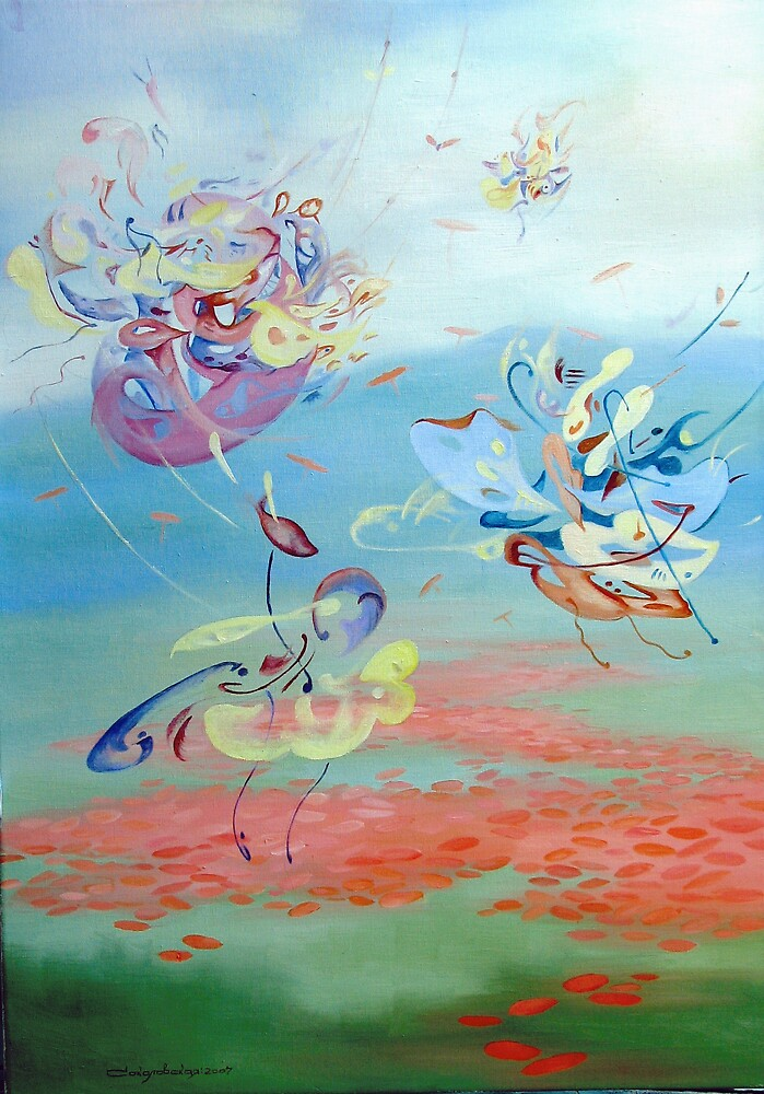 Games in spring by Sokolovskaya