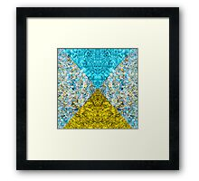 Psychedelic Triangle Dream Invert Framed Print