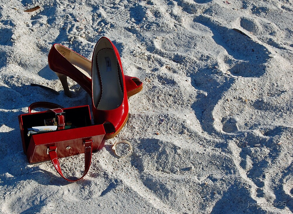 Red Shoes & Sand by joeschmoe96