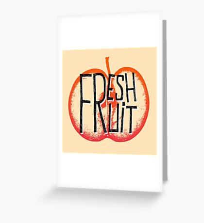 Apple fresh fruit illustration Greeting Card