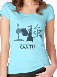 Earth (with colour) Women's Fitted Scoop T-Shirt