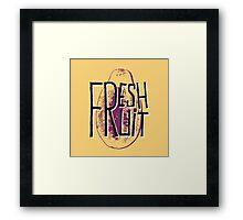Mango fresh fruit illustration Framed Print