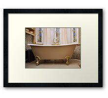 old-fashioned bathtub Framed Print