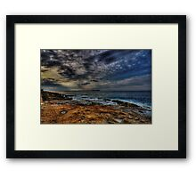 Some water on the red planet Framed Print