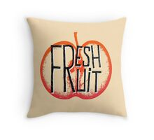 Apple fresh fruit illustration Throw Pillow