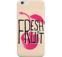 Cherry fresh fruit illustration iPhone Case/Skin
