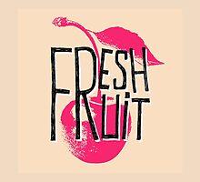Cherry fresh fruit illustration by ONiONAstudio