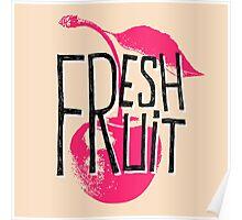 Cherry fresh fruit illustration Poster