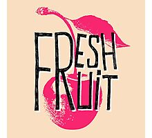 Cherry fresh fruit illustration Photographic Print