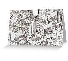 City Drawing Greeting Card