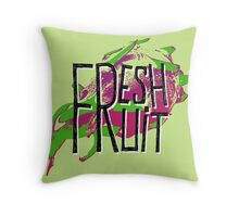 Pitaja fresh fruit illustration Throw Pillow