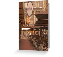 Eating out in Degraves Street, Melbourne Greeting Card