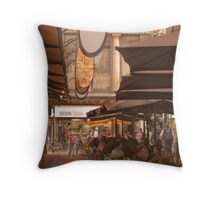 Eating out in Degraves Street, Melbourne Throw Pillow