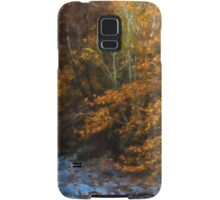 Blue Stones, Yellow Leaves - a Dry River Impressions Samsung Galaxy Case/Skin