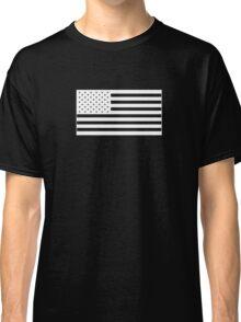 American Flag - White Classic T-Shirt