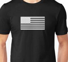 American Flag - White Unisex T-Shirt
