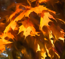 Spotlight on the Golden Maple Leaves - Fall Forest Impressions Sticker