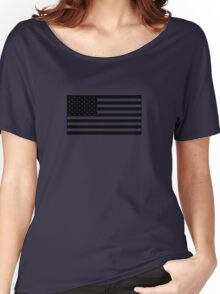 American Flag - Olive Women's Relaxed Fit T-Shirt