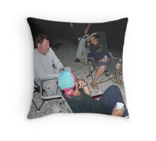 Tired Campers Throw Pillow
