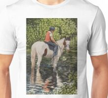 In the river at Cahirmee. Unisex T-Shirt