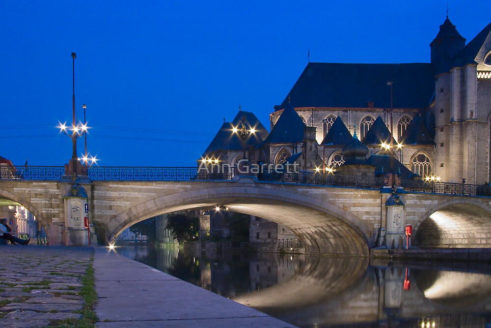 St. Michael's Bridge, Ghent, Belgium by Ann Garrett