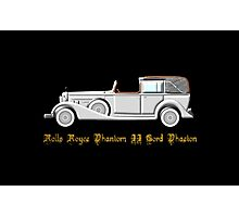 Rolls Royce Phantom II Cord Phaeton - all products except duvet Photographic Print