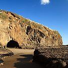 Cave on Bethells Beach by theodoorventer