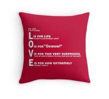 Love, L-O-V-E Love / TV / Friends *Updated Version* Throw Pillow