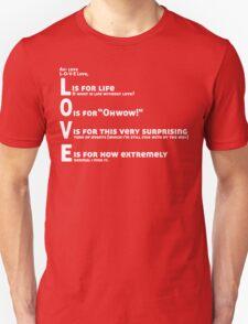 Love, L-O-V-E Love / TV / Friends *Updated Version* T-Shirt