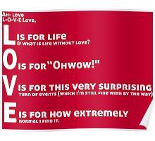 Love, L-O-V-E Love / TV / Friends *Updated Version* Poster