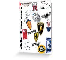 Car - Logos Greeting Card