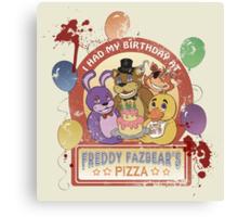 Freddy Fazbear's Birthday! (survivor version) Canvas Print